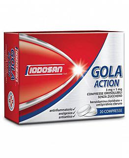 IODOSAN GOLA ACTION 20 COMPRESSE OROS 3MG+1MG