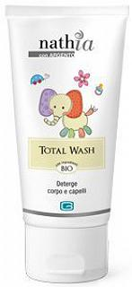 NATHIA - TOTAL WASH - 200ml Deterge corpo e capelli, 200ml