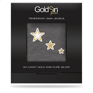 GOLDSIN JEWELS 3 FANTASY STARS 24K GOLD