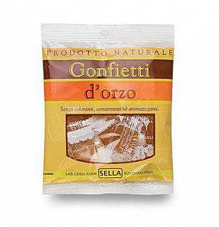 GONFIETTI D' ORZO CARAMELLE SELLA IN BUSTINA 50G