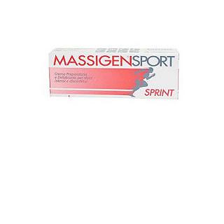 MASSIGEN - SPORT SPRINT 50 ml Crema preparatoria all'attività fisica con immediato effetto riscaldante, tubo da 50 ml