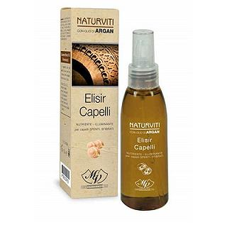 NATURVITI ARGAN ELISIR CAPELLI 75 ml Nutriente illuminante per capelli spenti e/o sfibrati, 75 ml