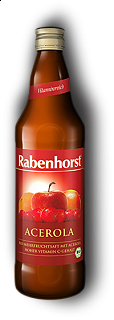 RABENHORST - ACEROLA MULTIFRUIT JUICE - 750 ml Puro succo Bio multifrutta da prima spremitura made in Germany, 750 ml