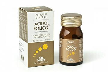 ALTA NATURA ACIDO FOLICO 40 Compresse 500 MG RILASCIO IMMEDIATO!