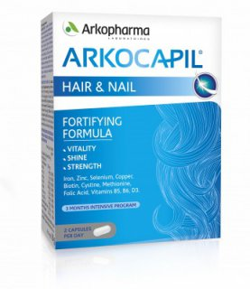 ARKOCAPIL HAIR & NAIL FORTIFYNG FORMULA 60 CAPSULE 3 months intensive program 2 x 60 cps