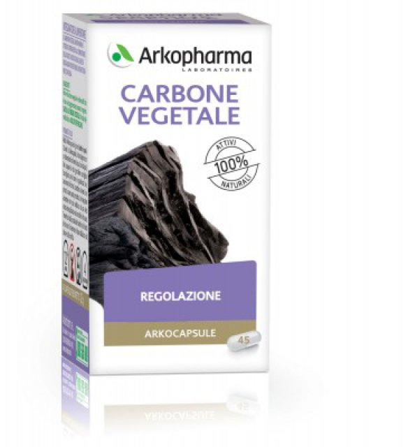 ARKOPHARMA CARBONE VEGETALE 45CPS Integratore a base di Carbone Vegetale