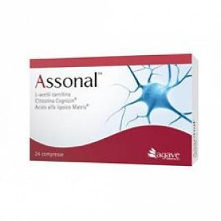 ASSONAL 24 COMPRESSE 1300 mg L-acetil carnitina, acido alfa lipoico, citicolina e vitamine del gruppo B