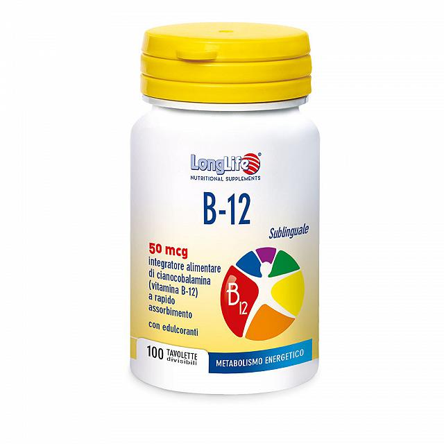 LONGLIFE B12 50 MCG SUBLINGUALE 100CPR OROSOLUBILI