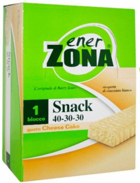 ENERZONA SNACK 40-30-30 CHEESE CAKE BOX 30 BARRETTE DA 23gr
