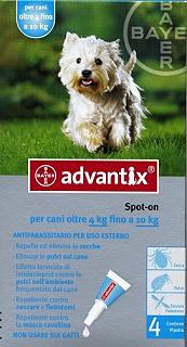 BAYER ADVANTIX SPOT ON 4-10 KG