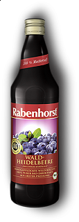 RABENHORST - BLUEBERRY PURE JUICE - 330 ml 100% succo di mirtillo biologico made in Germany, 330 ml
