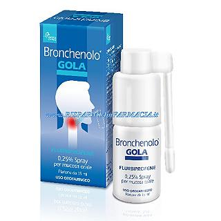 BRONCHENOLO SPRAY GOLA 15ml FLURBIPROFENE 0,25%