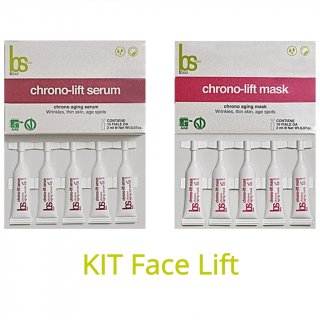 BSOUL Kit FACE-LIFT - Chrono lift serum (15 fiale da 2 ml) + Chrono lift mask (10 fiale da 2 ml)