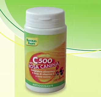 NATURAL POINT C500 con ROSA CANINA 100 Capsule