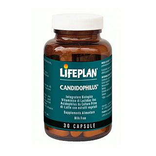 LIFEPLAN - CANDIDOPHILUS Gluten free, 100% naturale, vegan friendly, senza lattosio