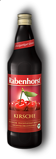 RABENHORST - FRUIT JUICES CHERRY NECTAR - 750ml Puro succo Bio di ciliegia da prima spremitura made in Germany, 750 ml