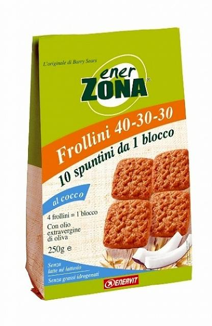 ENERZONA  FROLLINI COCCO 250gr