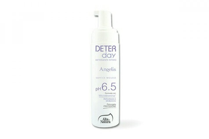 ALTA NATURA DETERDAY Angelis -Mousse Detergente intimo PH 6,5 200ml Uso quotidiano in post menopausa