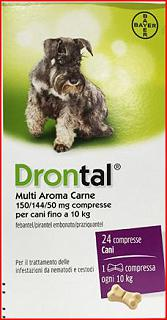 BAYER DRONTAL MULTI AR CARNE 24 COMPRESSE PER CANI