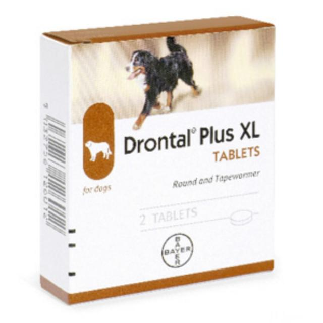 BAYER DRONTAL PLUS XL 2 CPR PER CANI
