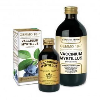 DR GIORGINI GEMMO 10+ Mirtillo Nero 500 ml liquido analcoolico INTEGRATORE