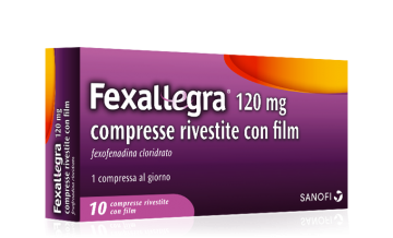 FEXALLEGRA 10 COMPRESSE RIVESTITE 120MG Antistaminico a base di Fexofenadina