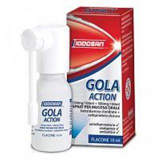 IODOSAN GOLA ACTION SPRAY 10 ml Antinfiammatorio - Antisettico - Analgesico per la Gola