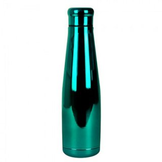Borraccia termica in acciaio Verde cromato/GreenChrome Stainless steel bottles