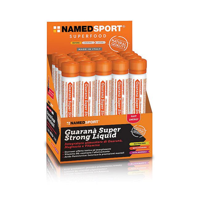 NAMED SPORT GUARANA' SUPER STRONG Liquid 25 ML 2000 mg di estratto di Guaranà, arricchito con Magnesio, Vitamine B1, B6 e C.