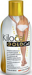 KILOCAL GOLD CELL 500ml Con Centella- Rutina -Acido Jaluronico -per contrastare la Cellulite