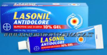LASONIL ANTIDOLORE GEL 50G 10% ANTINFIAMMATORIO A BASE DI IBUPROFENE