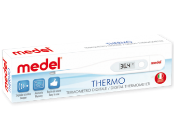 MEDEL THERMO -  TERMOMETRO DIGITALE - 1 minuto Termometro Digitale: in 60 secondi misura la temperatura orale - ascellare - rettale
