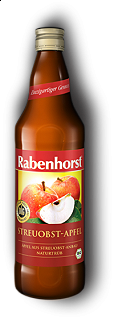 RABENHORST - APPLE JUICE - 750ml Puro succo Bio di mela da prima spremitura made in Germany, 750 ml