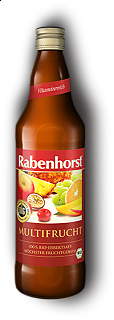 RABENHORST - MULTIFRUIT JUICE - 750 ml Puro succo Bio multifrutta da prima spremitura made in Germany, 750 ml