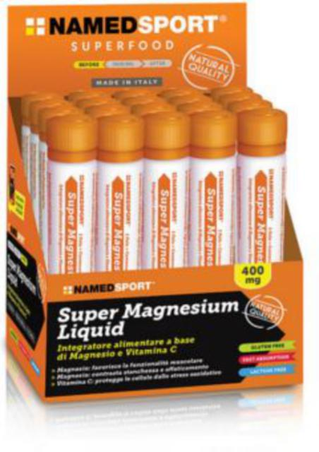 NAMED SPORT SUPER MAGNESIUM Liquid 25 ML 400g di  Magnesio e 160g di Vitamina C in fiale