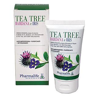 PHARMALIFE POMATA TEA TREE BARDANA & IRIS 75ml CREMA POMATA ANTI IMPERFEZIONI • DETOSSINANTE • PURIFICANTE