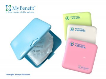 CUSTODIA MASCHERINA Anti Batterica Blu