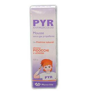 PYR ANTIPEDICULOSI MOUSSE 120 ml Schiuma antipediculosi, 120 ml