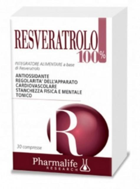 PHARMALIFE RESVERATROLO 100% 30 COMPRESSE