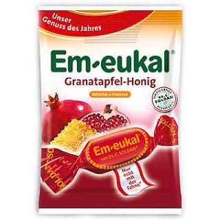 EM-EUKAL BAG - POMEGRANATE-HONEY WITH SUGAR - 75gr. Caramelle al gusto di melagrana e miele, 75 gr.