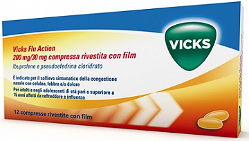 VICKS FLUID ACTION 12 COMPRESSE 200+30Mg