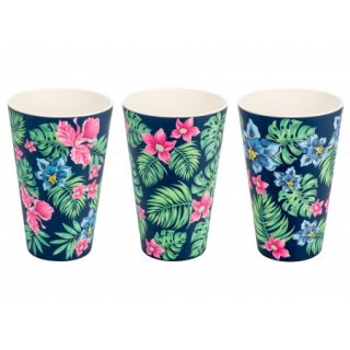 Set 3 Tazze in bamboo 400mL Tropical. ECO Tazze ECO, in Bamboo, NO plastic
