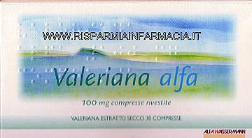 VALERIANA ALFA 100 mg compresse rivestite