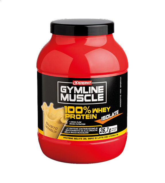 ENERVIT GYMLINE MUSCLE 100% WHEY PROTEIN ISOLATE VANIGLIA 700 G