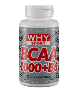 WHY SPORT BCAA 1000 + B6 100 compresse