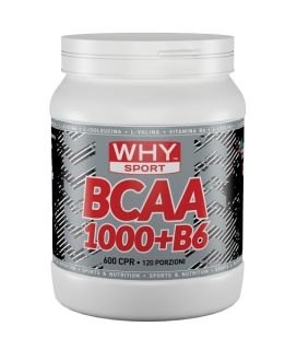 WHY SPORT BCAA 1000 + B6 600 compresse
