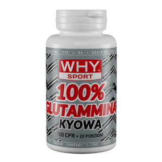 WHY SPORT 100% GLUTAMMINA 100 compresse