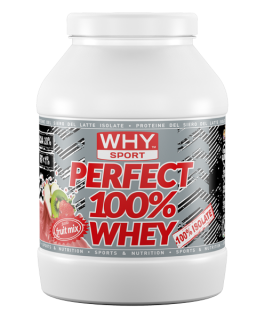 WHY SPORT Perfect Whey 750g – Proteine isolate GUSTO FRUIT MIX 100% PROTEINE ISOLATE