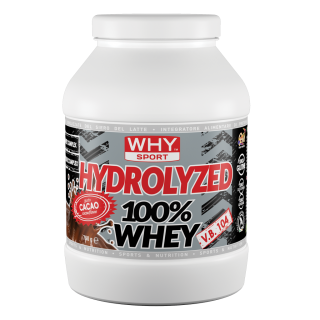 WHY SPORT HYDROLIZED 100% Whey 750g – Proteine isolate IDROLIZZATE GUSTO BLACK CHOCOLATE